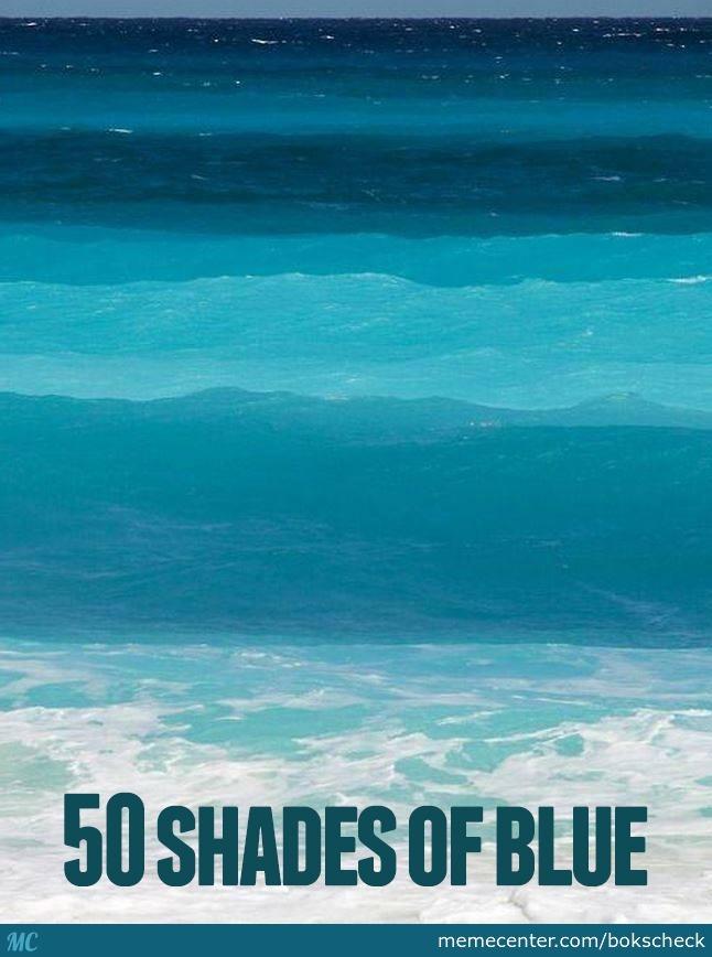 50 Shades Of Blue Blue Meme