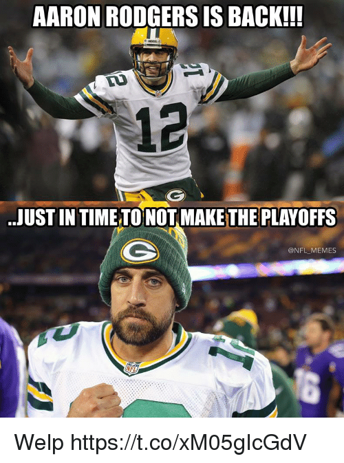 Aaron Rodgers Is Aaron Rodgers Hail Mary Meme