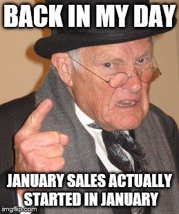 Back In My Day January Meme