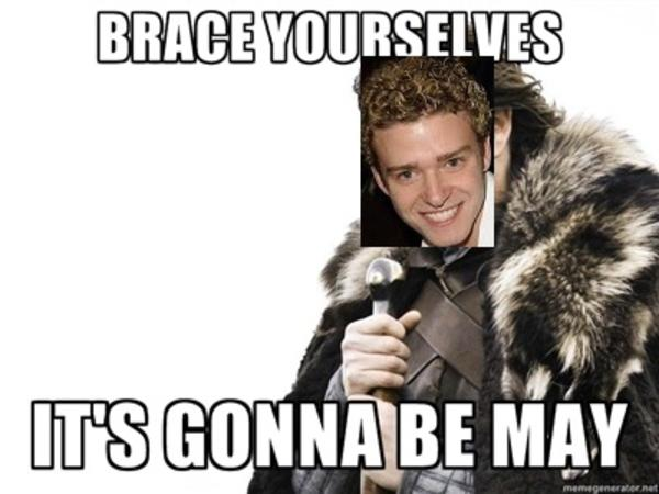 Brace Yourselves It's Gonna May Meme
