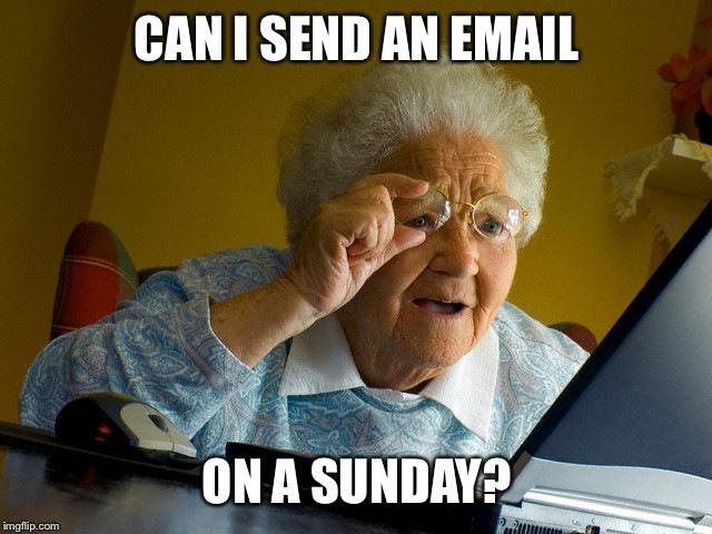 Can I Send An Sunday Meme