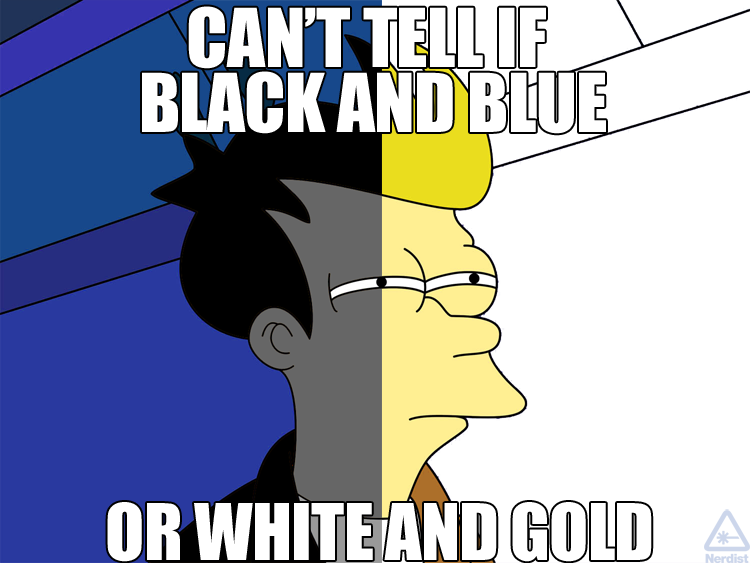 Can't Tell If Black And Blue Blue Meme