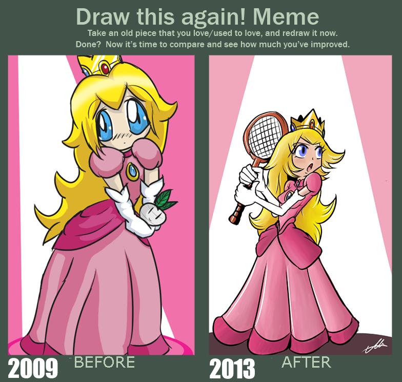 Draw This Again! Meme Peach Meme