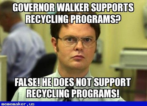 Governer Walker Supports Recycling Jujube Meme