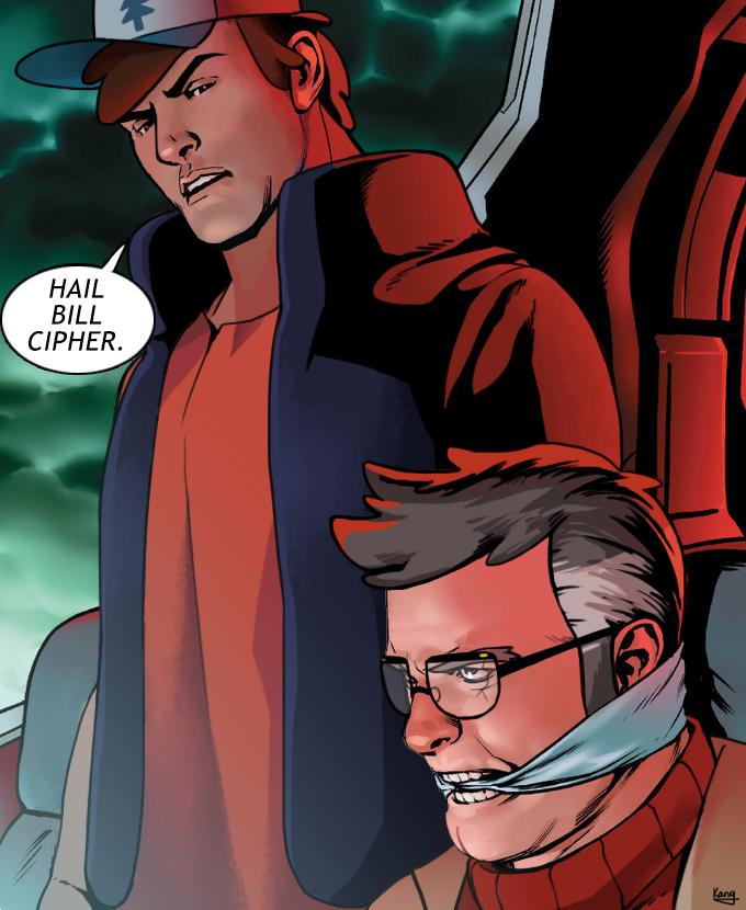 Hail Bill Cipher Captain America Hydra Meme