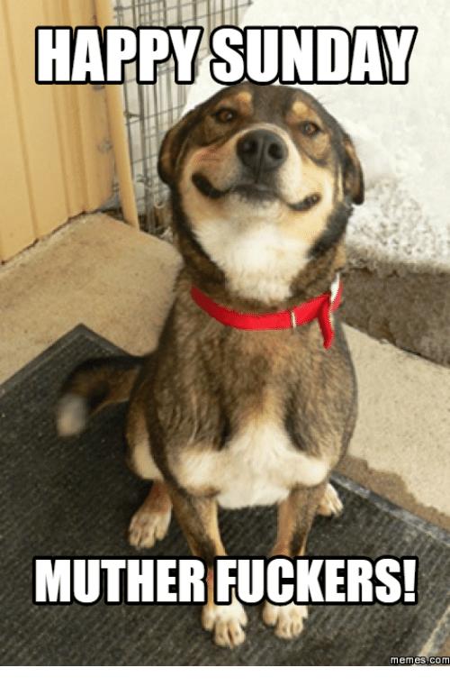 Happy Sunday Muther Fuckers Sunday Meme