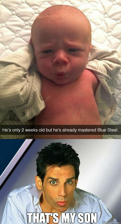 He's Only 2 Weeks Old But He's Blue Meme