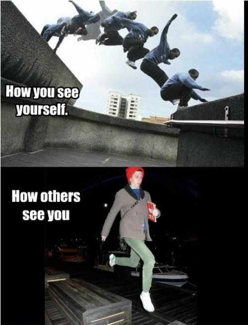How You See Yourself Parkour Meme