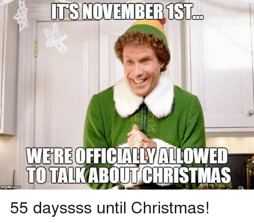 It's November 1st We're November Meme
