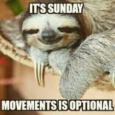 Its Sunday Movements Is Optional Sunday Meme