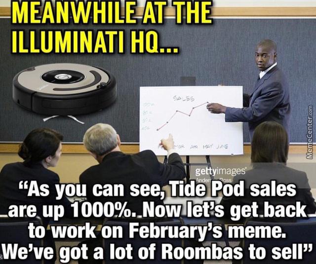 Meanwhile At The Illuminati January Meme