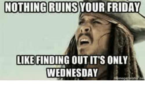Nothing Ruins Your Friday Wednesday Meme
