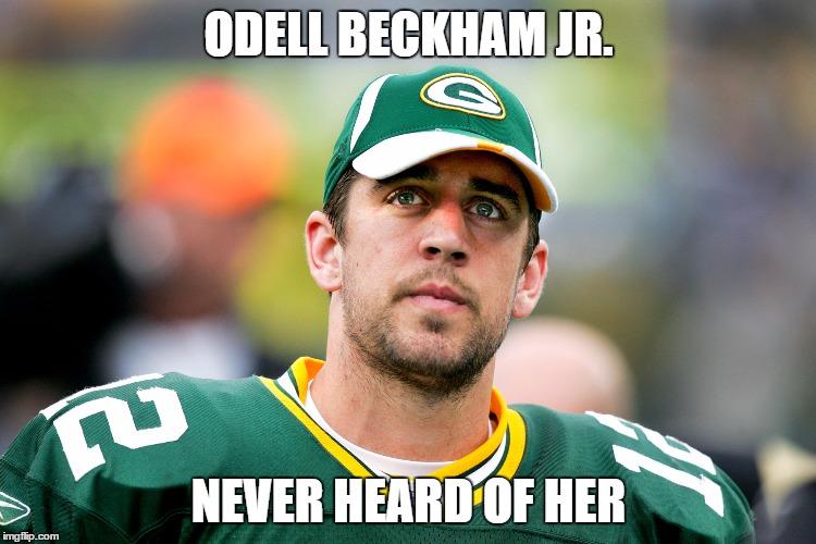 Odell Beckham Jr. Aaron Rodgers Hail Mary Meme