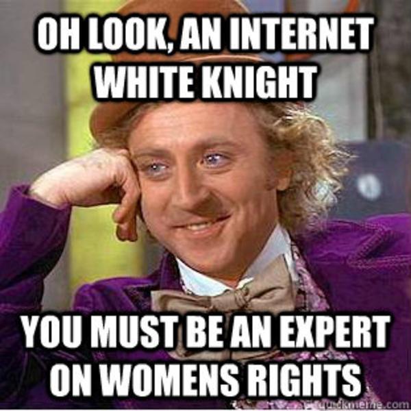 Oh Look An Internet White Knight White Meme