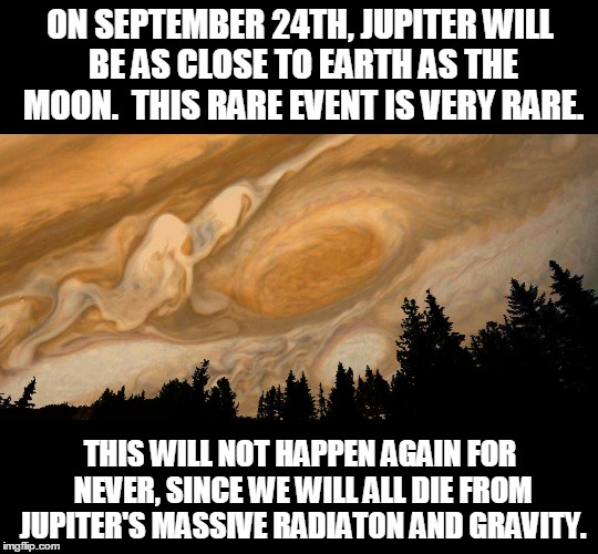 On September 24th Jupiter Will Be As Jupiter Meme