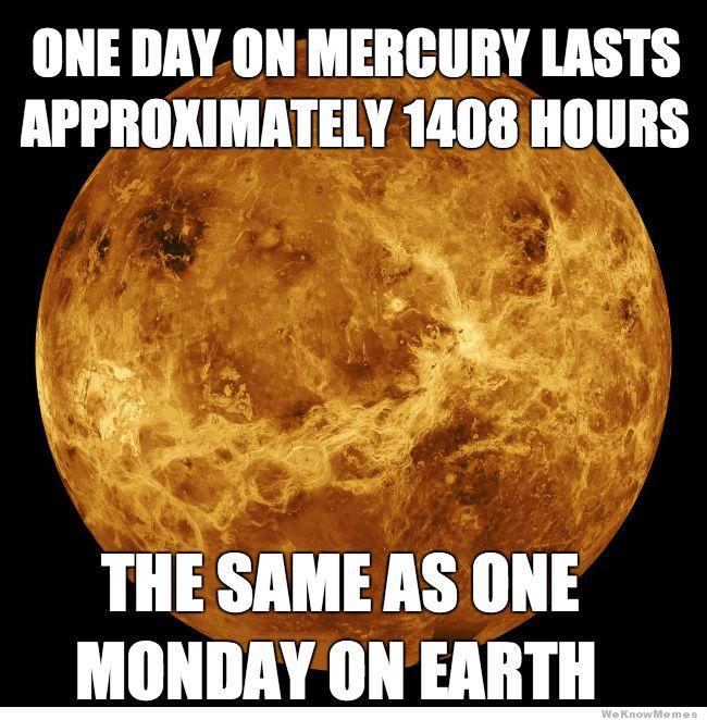 One Day One Mercury Monday Meme