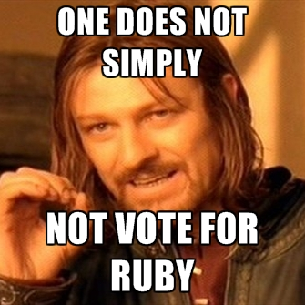 One Does Not Simply Ruby Meme