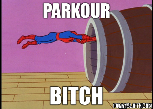 Parkour Bitch Parkour Meme