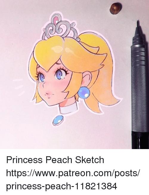 Princess Peach Sketch Peach Meme