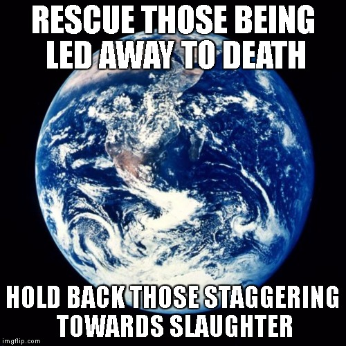Rescue Those Being Led Away To Death Earth Meme