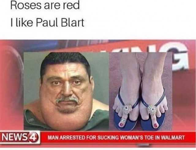 Roses Are Red I Like Paul Blart Red Meme