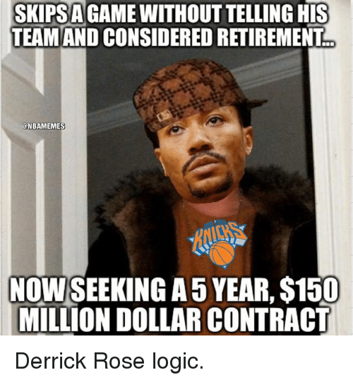 Skips A Game Derrick Rose Memes