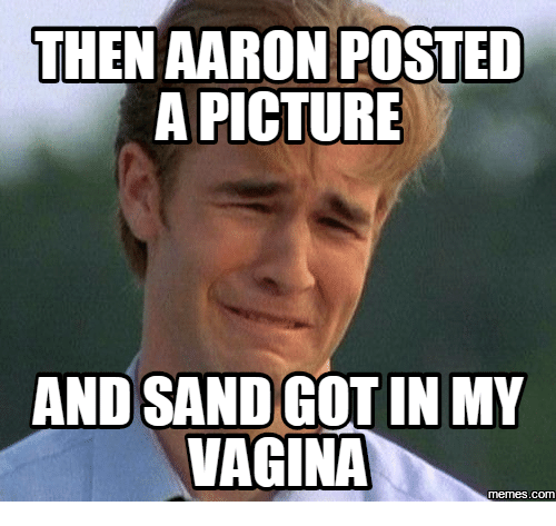 Then Aaron Posted A Picture Aaron Memes