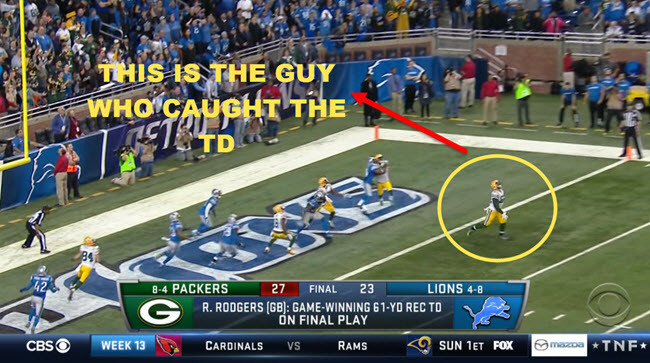 This Is The Guy Aaron Rodgers Hail Mary Meme