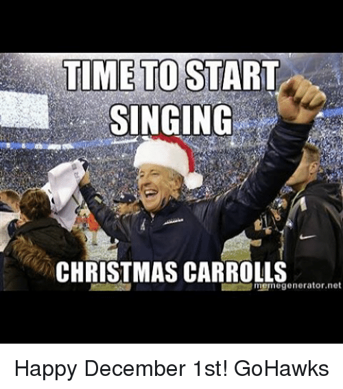 Time To Start Singing December Meme