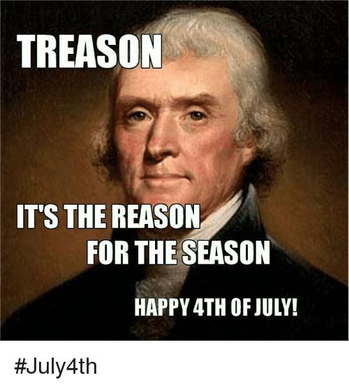 Treason It's The Reason July Meme
