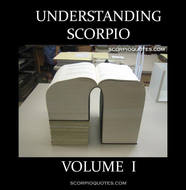 Understanding Scorpio Volume 1 Scorpio Meme