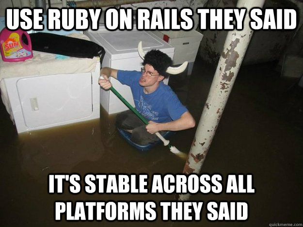 Use Ruby On Rails They Ruby Meme