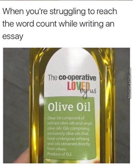 When You're Struggling To Olive Meme