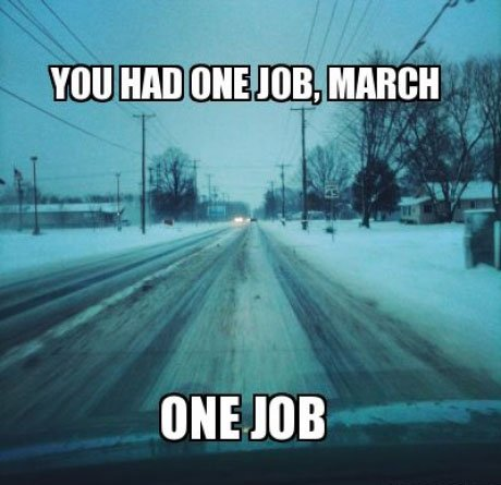 You Had One Job March Meme