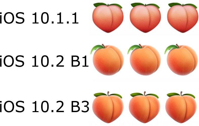 iOS 10.1.1 Peach Meme
