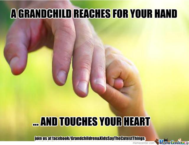 A Grandchild Reaches For Grandchild Meme