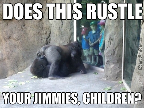 Does This Rustle Your Gorilla Meme