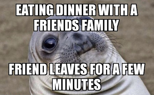 Eating Dinner With A Seal Meme