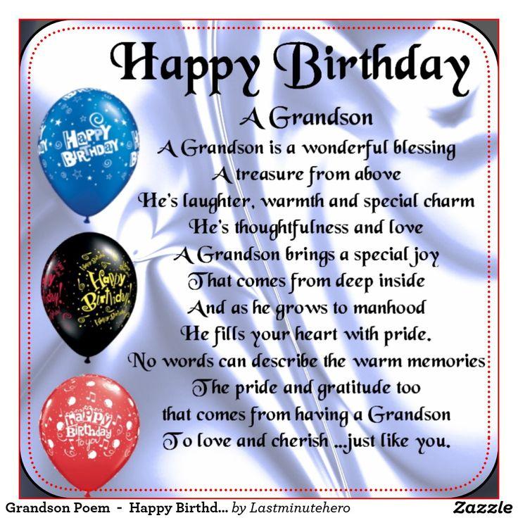 Happy Birthday A Grandson