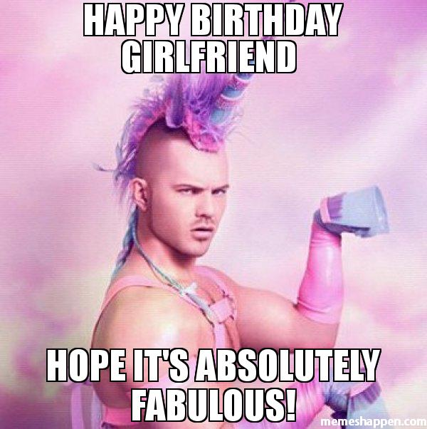 Happy Birthday Girlfriend Hope Meme