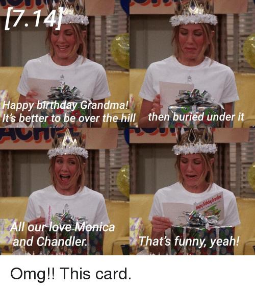 Happy Over The Hill Birthday Birthday Humor Dog Card: 19 Amusing Grandmother Birthday Meme Images & Photos