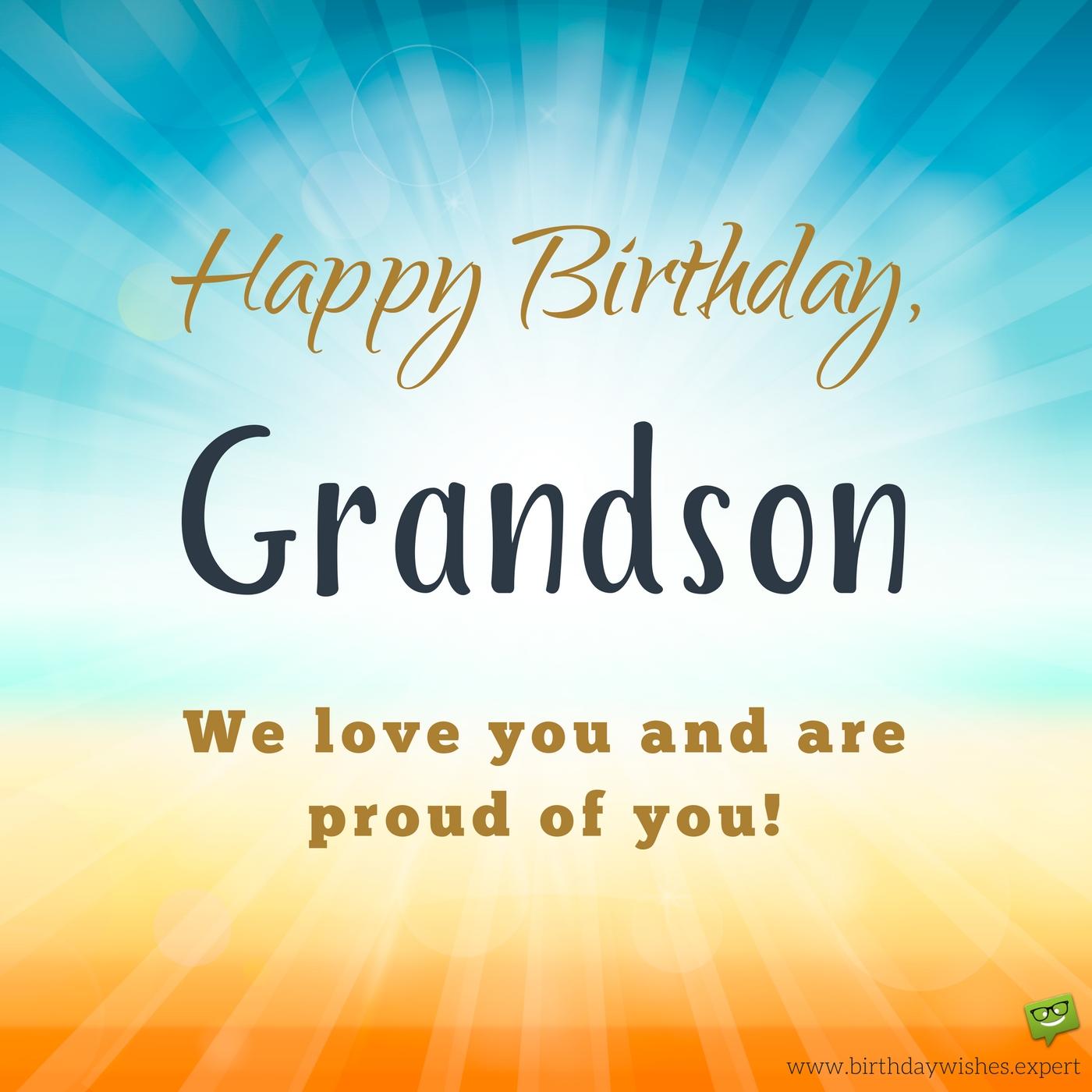 Happy Birthday Grandson We Grandchild Birthday Meme