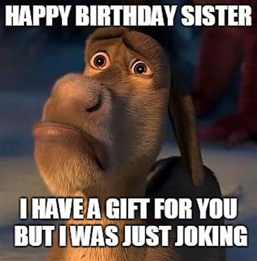 Happy Birthday Sister I Sister Meme