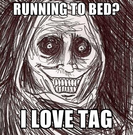 Running To Bed I Boogeyman Meme