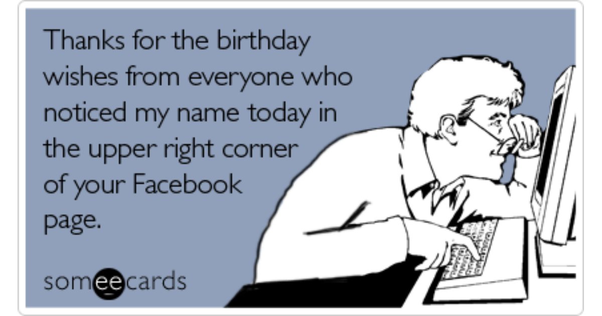 Thanks For The Birthday Facebook Meme