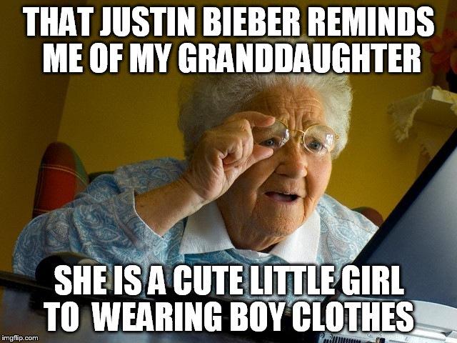That Justin Bieber Reminds Granddaughter Meme