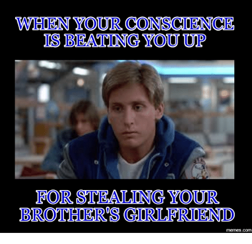 When Your Conscience Bro Meme