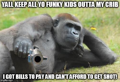 Yall Keep All Yo Gorilla Meme