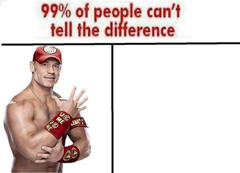 99% Of People Can't John Cena Meme