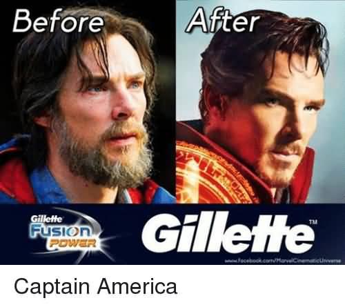 Before After Gillette Captain America Meme